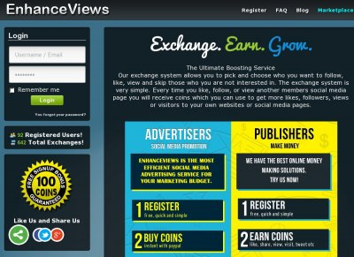 Top Social Exchanges - Stats - EnhanceViews INFO - Free YouTube